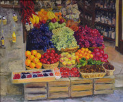 market, italy, Fruitstand, grapes