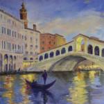 Venice, Rialto, Gondola, grand canal